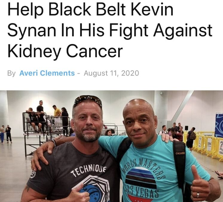 BJJ Community Rallies Around Black Belt Kevin Synan Fighting Kidney Cancer